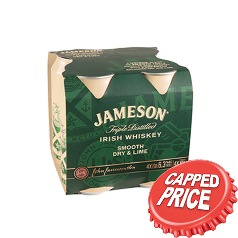 Capped - Jameson 4pk Range