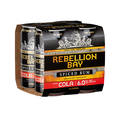 Rebellion Bay Spiced Rum & Cola 4pk