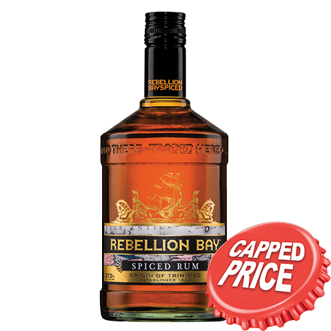 Capped - Rebellion Bay Spiced Rum 700ml