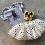 Gold Metallic Polka Dot TuTu