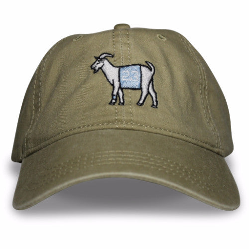 Carolina #23 GOAT Dad hat (Khaki)