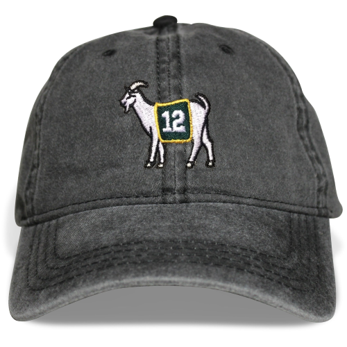 Green Bay #12 GOAT Dad hat - Black