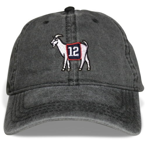 New England #12 GOAT Dad hat (Black)