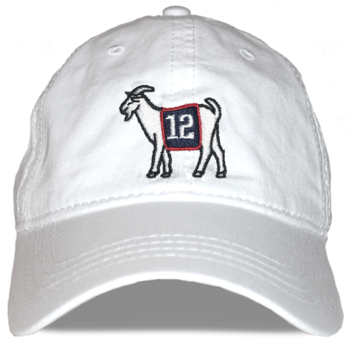 New England #12 GOAT Dad hat (White)