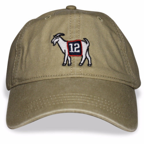 New England #12 GOAT Dad hat (Khaki)