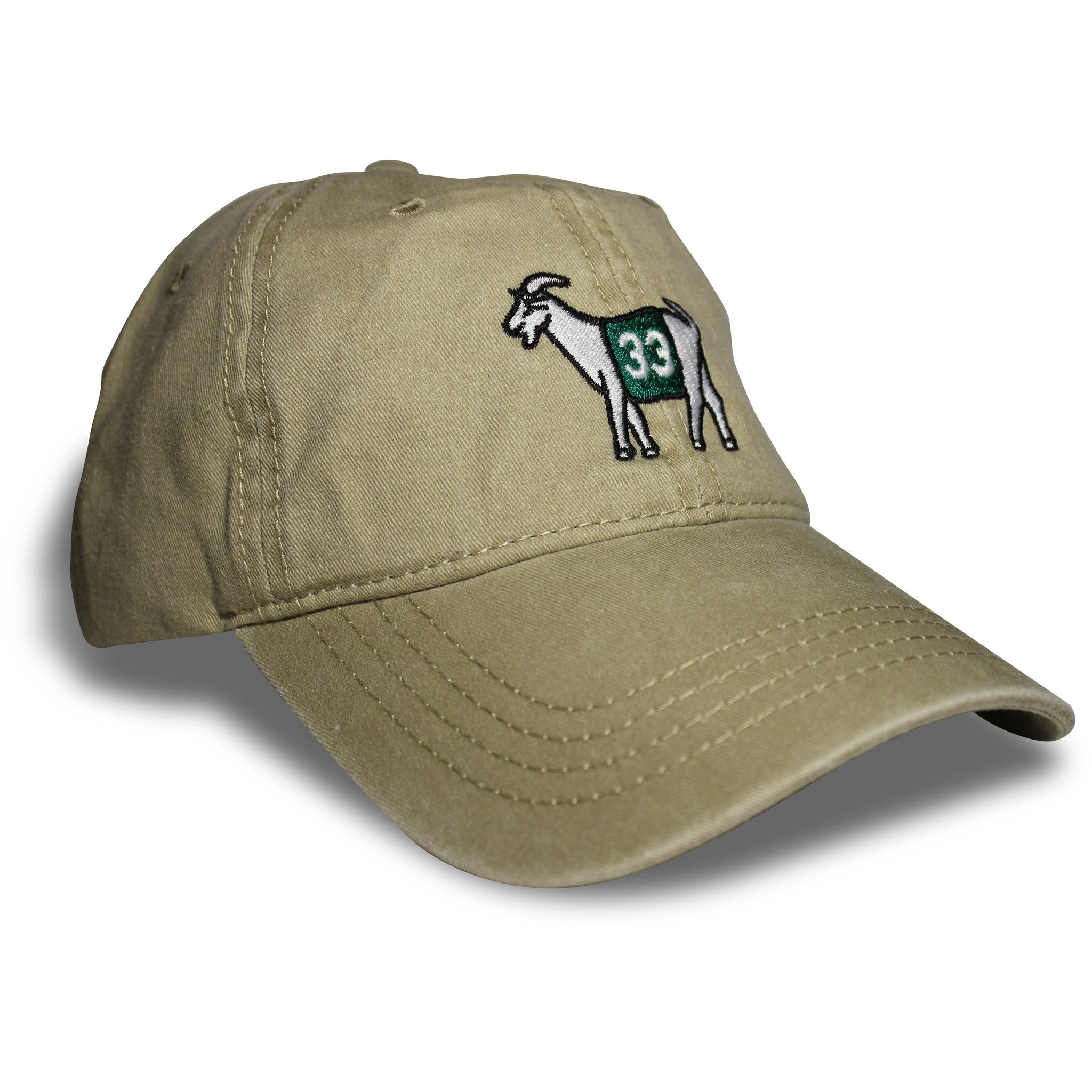 Boston #33 GOAT Dad hat (Khaki)
