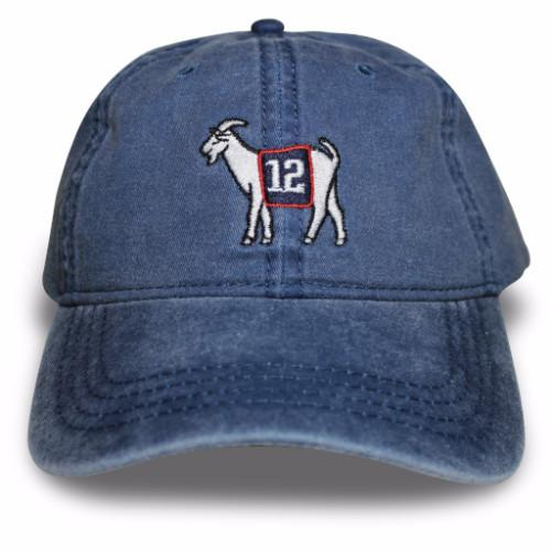 New England #12 GOAT Dad hat - Navy