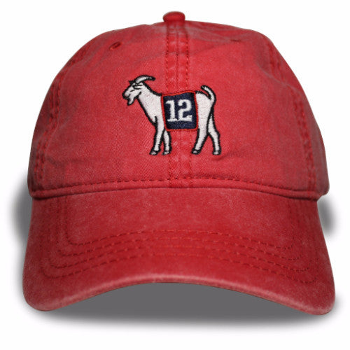 New England #12 GOAT Dad hat (Red)