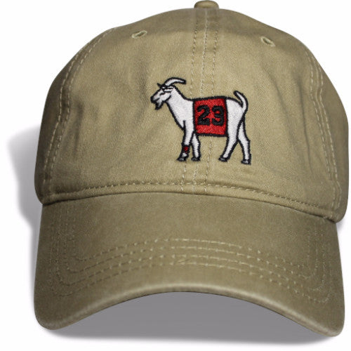 Chicago #23 GOAT Dad hat (Khaki)