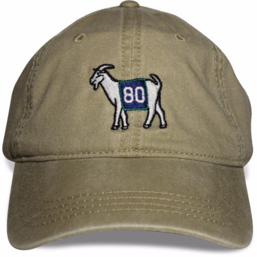 Seattle #80 GOAT Dad hat (Khaki)