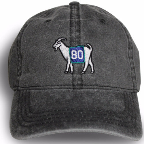 Seattle #80 GOAT Dad hat (Black)