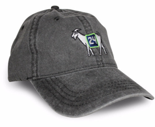 Seattle #24 GOAT Dad hat (Black)