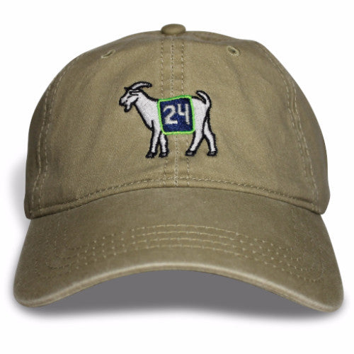 Seattle #24 GOAT Dad hat (Khaki)