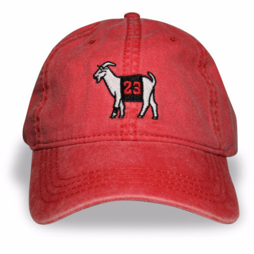 c2389bc69a7 Chicago  23 GOAT Dad hat (Red) – TheGoats.Co