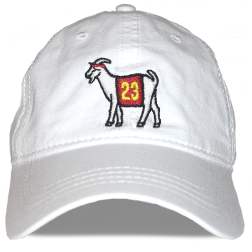 Cleveland #23 GOAT Dad hat (White)