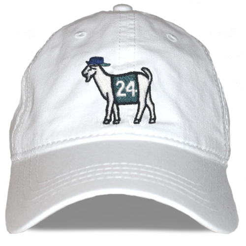 Seattle Baseball #24 GOAT Dad hat (White)