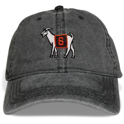 Cleveland #6 GOAT Dad Hat (Black)