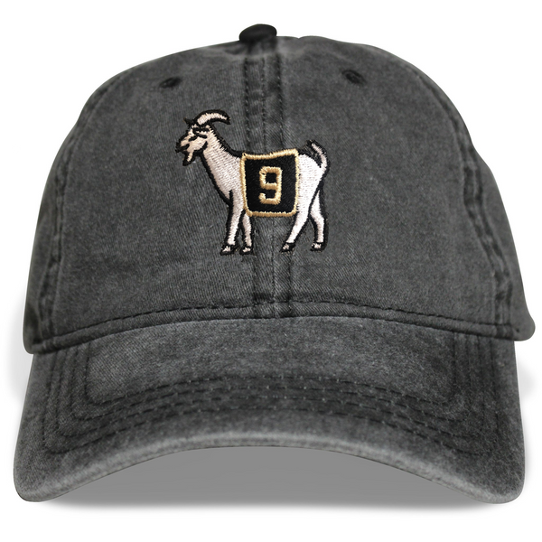New Orleans #9 GOAT Dad Hat (Black)