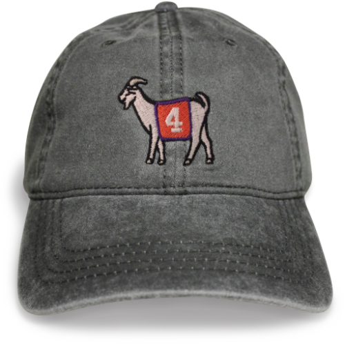 Clemson #4 GOAT Dad hat (Black)