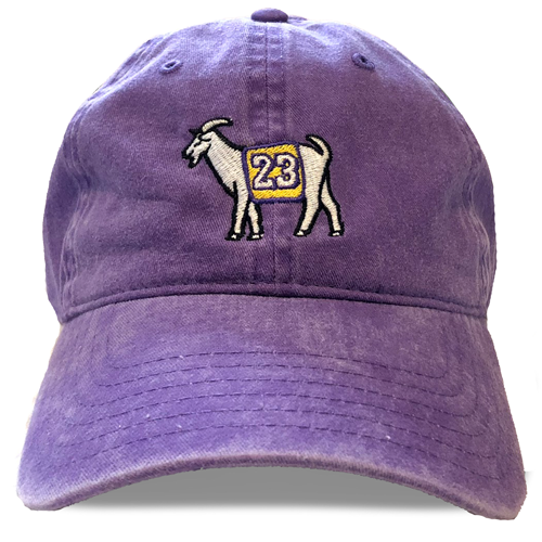 Los Angeles #23 GOAT Dad Hat (Purple)