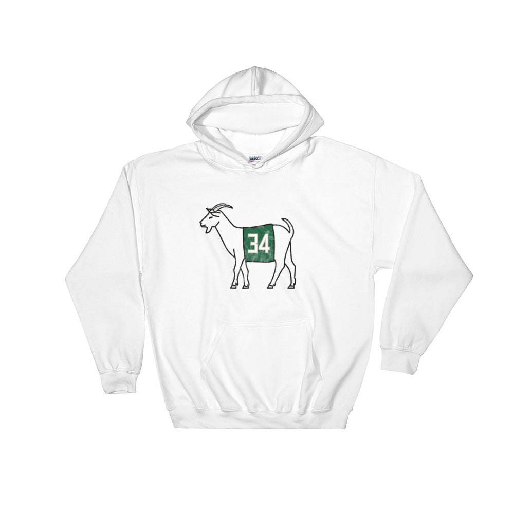 Milwaukee #34 GOAT Hooded Sweatshirt