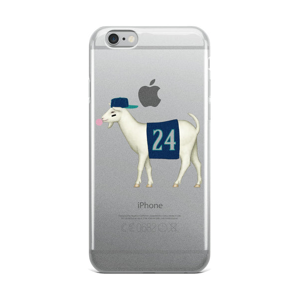 Seattle Baseball #24 GOAT iPhone 6/6s, 6/6s Plus Case