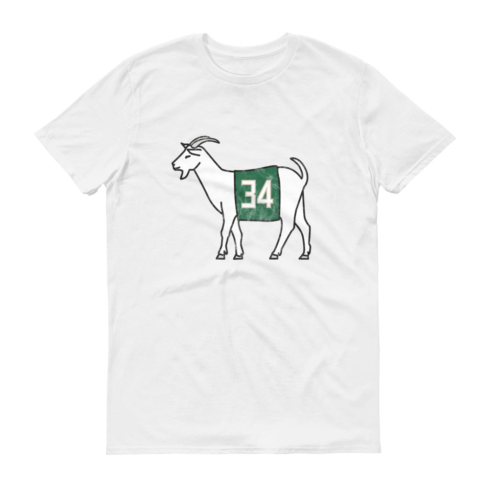 Milwaukee #34 GOAT Short-Sleeve T-Shirt