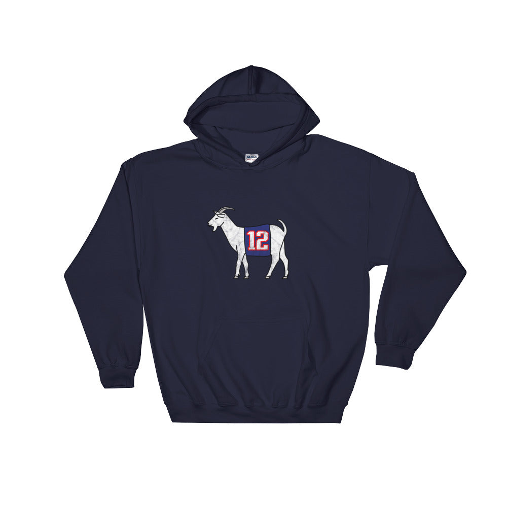 New England #12 GOAT Hooded Sweatshirt