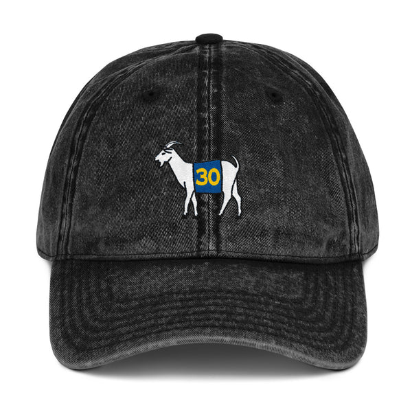 Golden State #30 GOAT Vintage Cotton Twill Cap