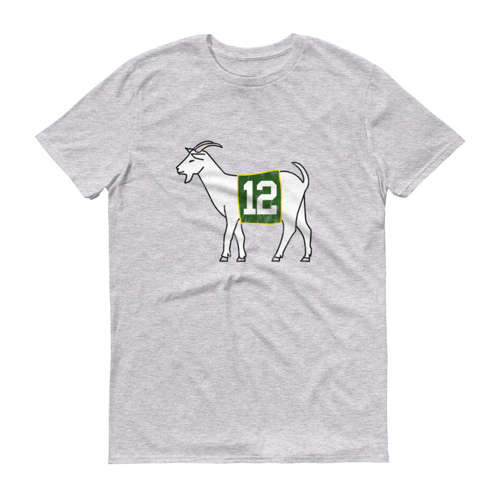 Green Bay #12 GOAT Short-Sleeve T-Shirt