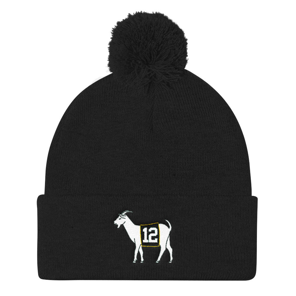 Green Bay #12 GOAT  Knit Cap