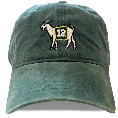 Green Bay #12 GOAT Dad hat - Green