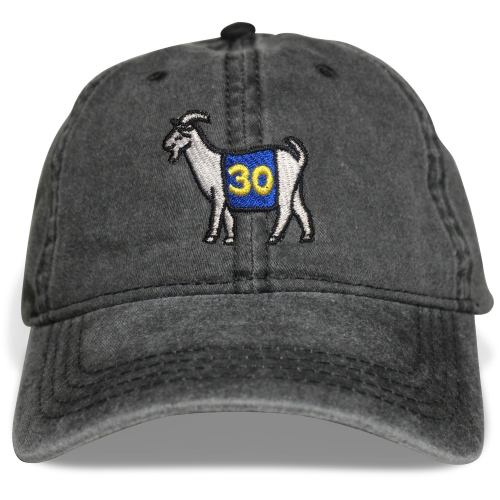 Golden State #30 GOAT Dad hat - Black