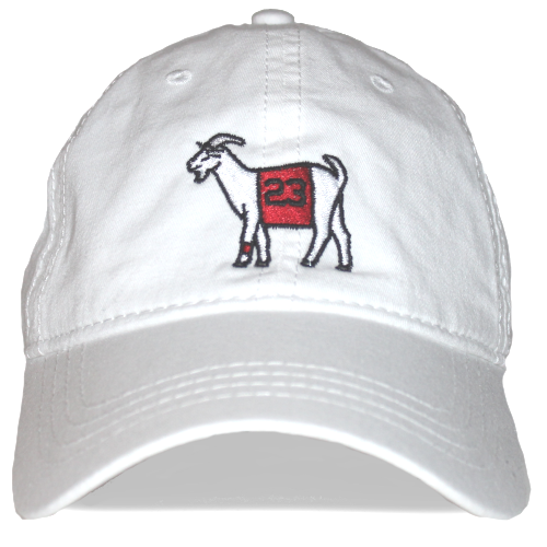 Chicago #23 GOAT Dad hat (White)