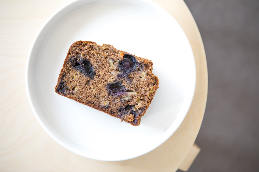 Banana & Blueberry Bread