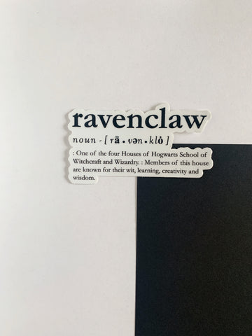 Ravenclaw Definition Sticker