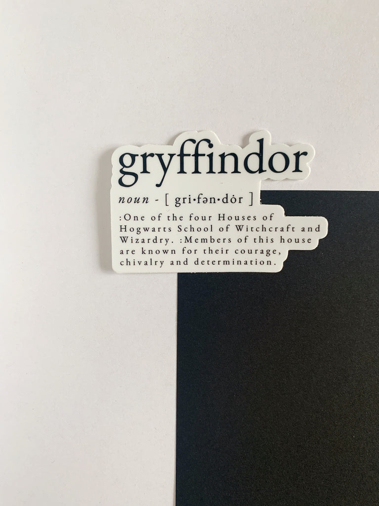 Gryffindor Definition Sticker