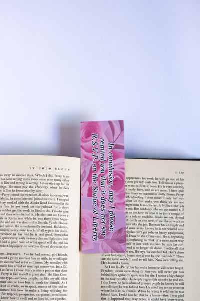 The Clueless Bookmark