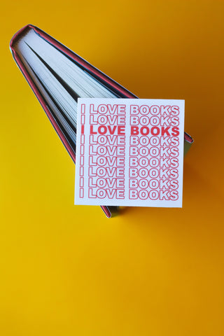 I LOVE BOOKS Sticker