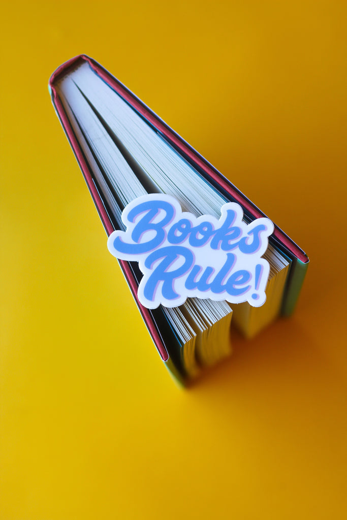 Books Rule Sticker