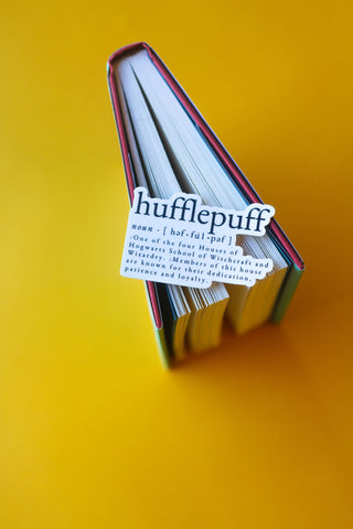 Hufflepuff Definition Sticker