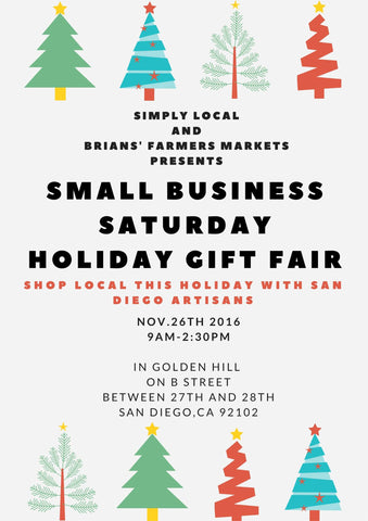 San Diego Bath and Body Company Small Business Saturday Holiday Gift Fair