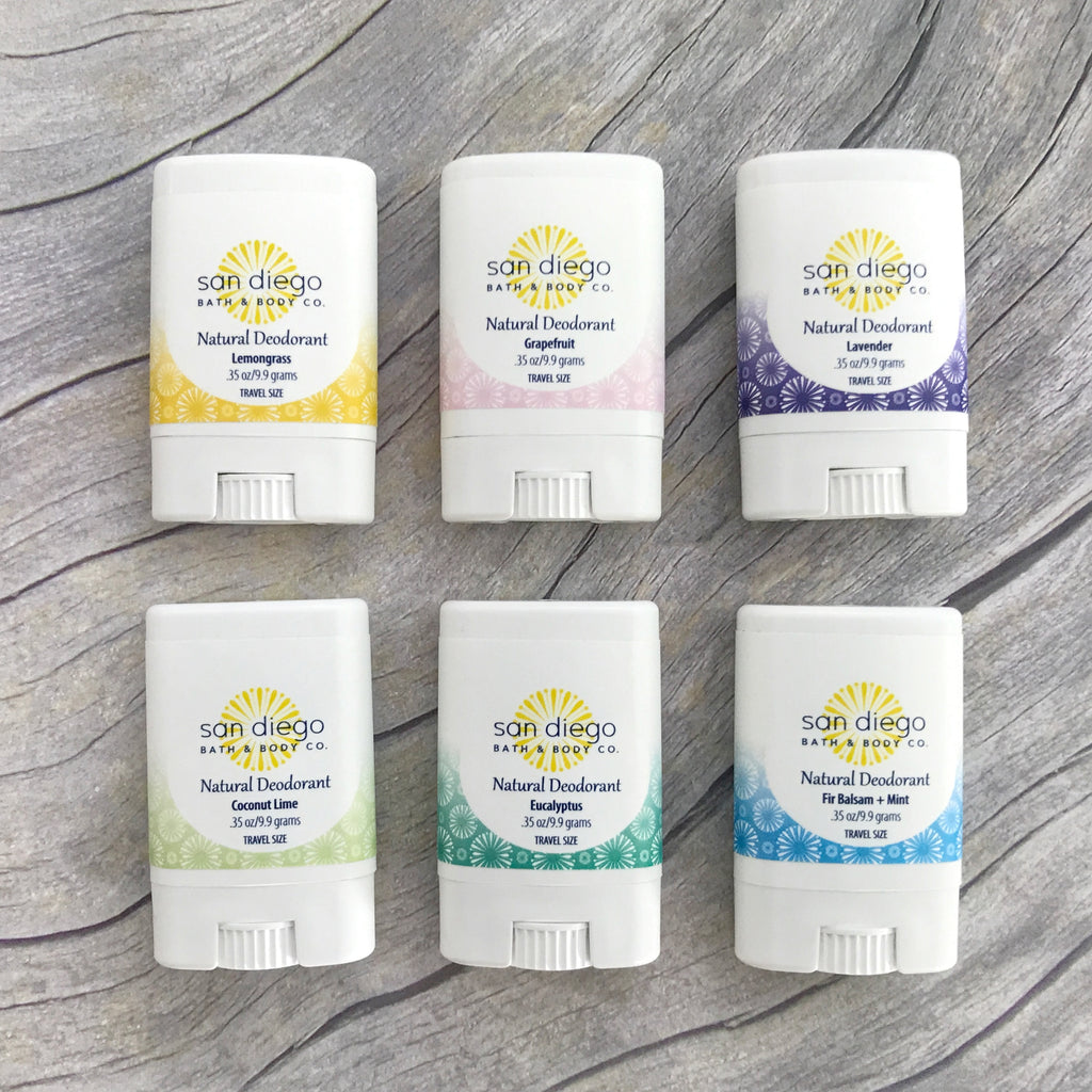6 Pack Deodorant Sampler Set - San Diego Bath & Body Co.