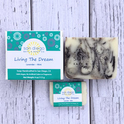 Living the Dream Soap is made with lavender and mint