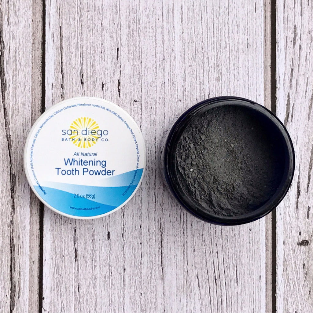 Natural Tooth Whitening & Remineralizing Powder - San Diego Bath & Body Co.