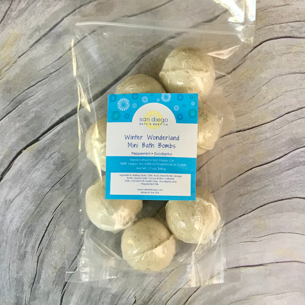 Winter Wonderland Mini Bath Bombs