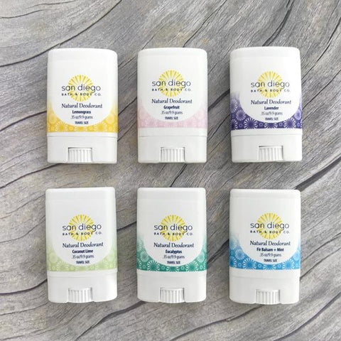 Travel Size Natural Deodorant - San Diego Bath & Body Co.