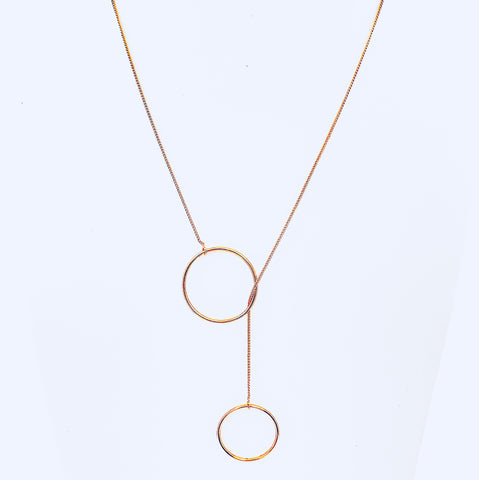 Austin Gold Circle Layered Necklace