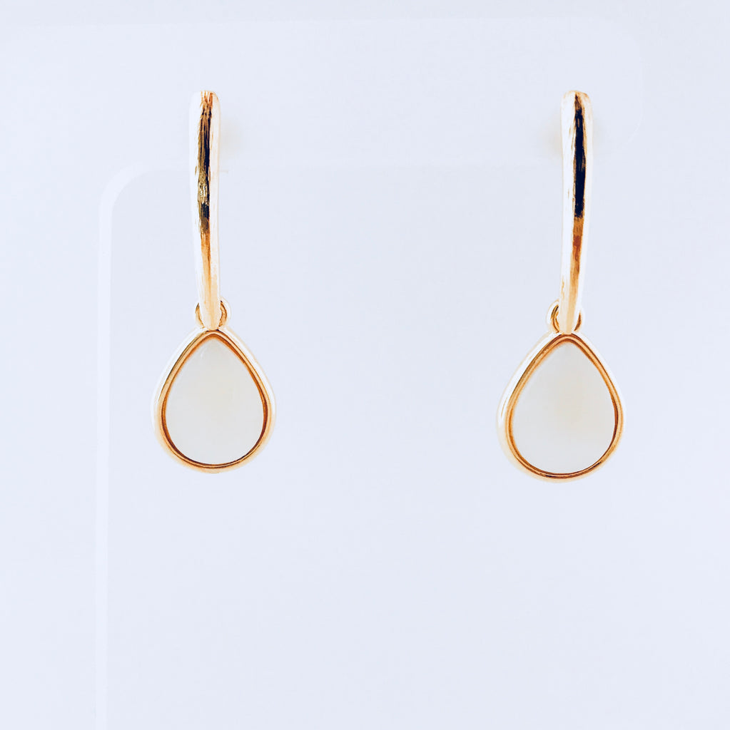 Lisbon Mother of Pearl Tear Drop Earring