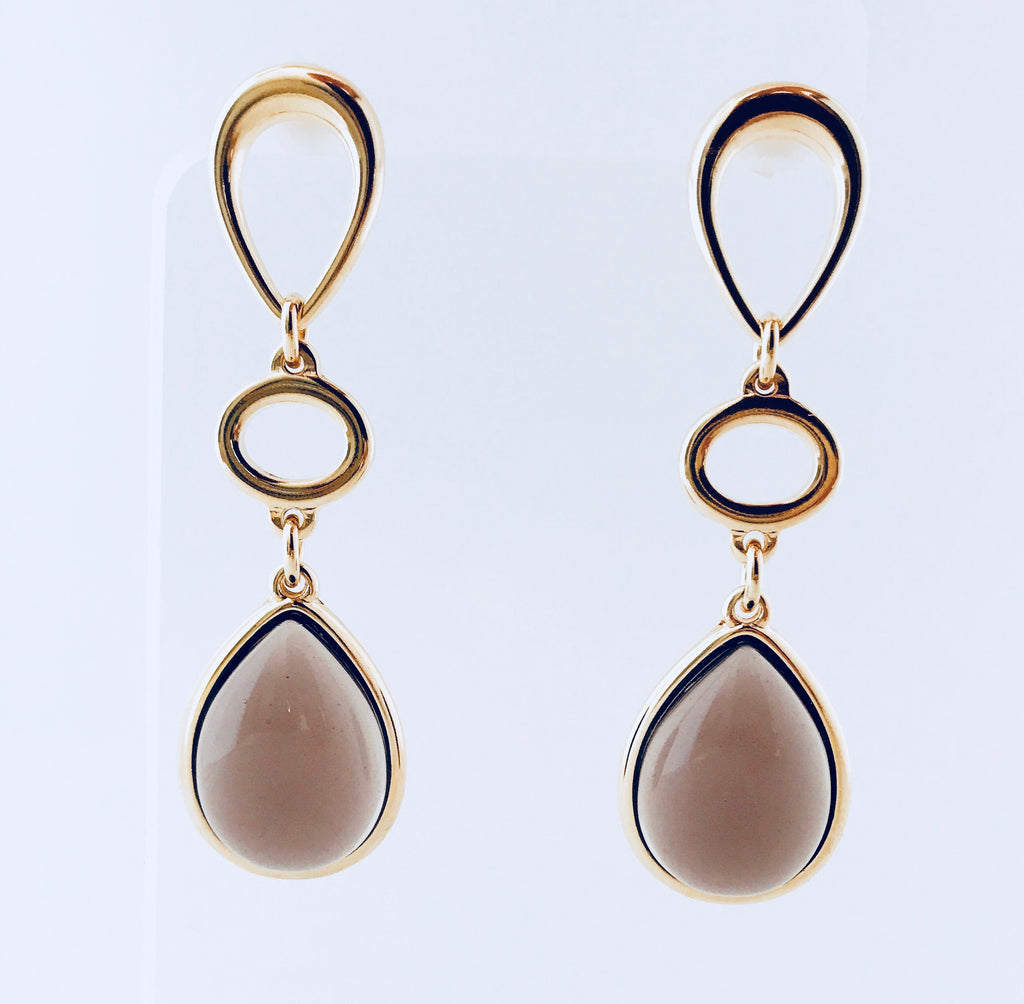 Lisbon Smoky Obsidian Large Tear Drop Earring